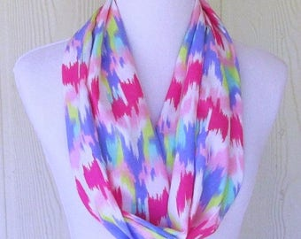 Mother's Day Gift, Pastel Infinity Scarf, Chiffon Fashion Scarf, Necklace Scarf, Women's Scarves, Eclectasie