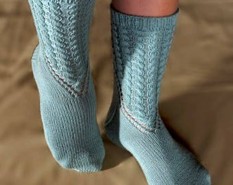 Arched Gusset Sock Knitting Pattern - PDF