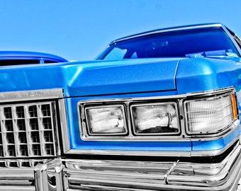 1976 Cadillac Fleetwood Car Photography, Automotive, Auto Dealer, Classic, Fin, Mechanic, Boys Room, Garage, Dealership Art