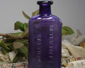 Vintage Bottle DARK PURPLE- Meyers Pitts & Co. BALTIMORE- Collectible Glass- Antique Bottle- D54