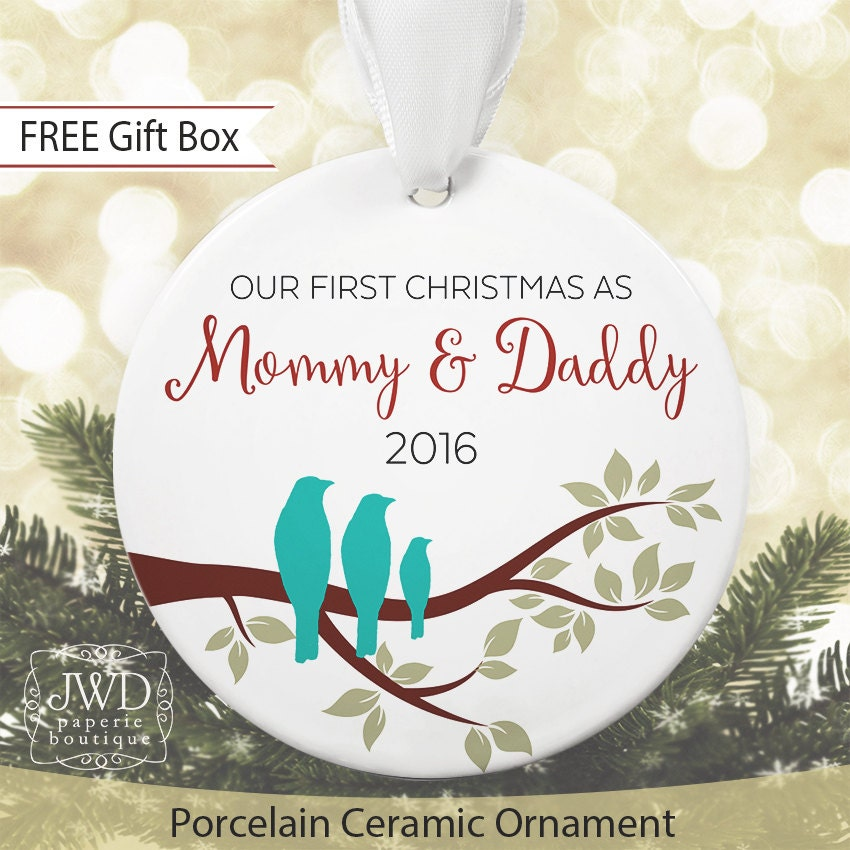 New Parents Ornament Our First Christmas As Mommy And Daddy To