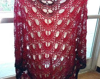Red and Black Shawl