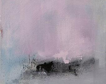 Abstract Expressionism Painting, Original Acrylic Painting, Pink and Gray Art, Winter Art, West Elm artist, Coastal Decor, Modern Home Decor