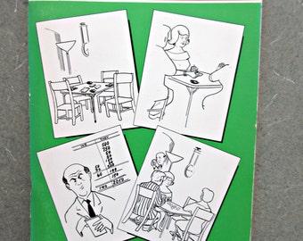 Vintage Bridge Book, Bridge Coloring Book, Bridge Humor, Gag Gift, Bridge Jokes, Heines Bridge Book, Vintage Coloring Book, Adult Coloring