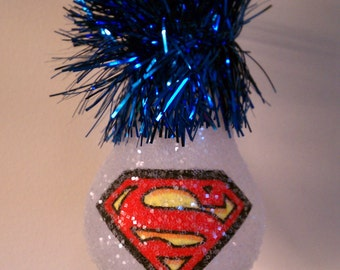 Superman keepsake lightbulb ornament