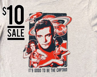 10 Dollar Sale - It's Good to Be the Captain, Men's Captain Kirk Tshirt