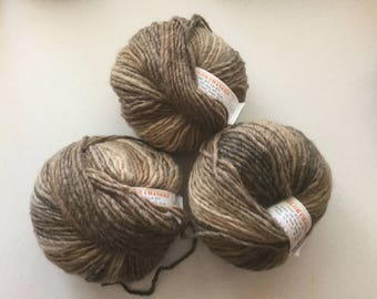 Ironstone Wool, Destash Yarn, Color Change Knitting Wool Acrylic Blend Fiber, Destash Yarn, ironstone Color Changes