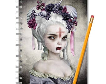 Girl Vampire Notebook - Vampire Journal - LINED OR BLANK pages, You Choose