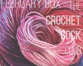 The Crochet Sock Club : February Box