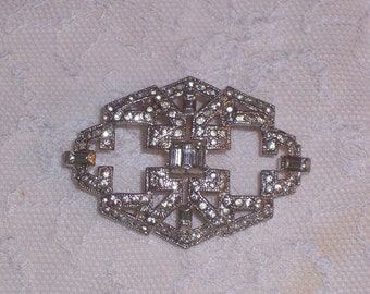 Vintage Coro Rhinestone Brooch or Pin