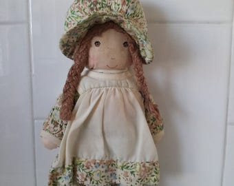 Vintage 1970's Small Knickerbocker HEATHER Holly Hobbie Doll