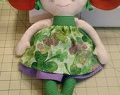 Reseved for Marianne  St Patrick's Day Calico Ragdoll ready to ship
