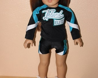 Island Elite cheerleader outfit for American Girl Doll