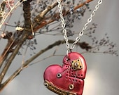 Red Unbreakable Mended Heart Necklace