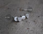 Simply Domed silver studs