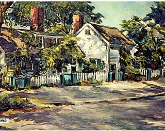 Vintage Maine Postcard - Sunlight and Shadow -- Artist, Roger Deering (Unused)