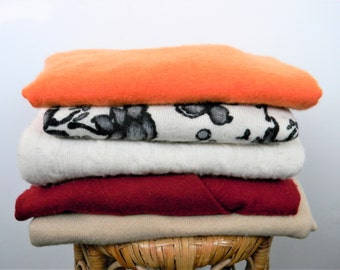 5 Cashmere sweaters lot for upcycling-Saks, Neiman, Lauren Large/XL