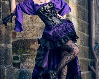 Purple Blouse, Chemise, Steampunk, Renassiance, Victorian, Cosplay, Cotton, Peasant shirt