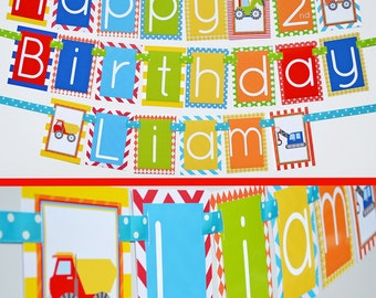 Construction Birthday Party Banner | Construction Themed Party | Fully Assembled Decorations | Construction Party | Construction Banner
