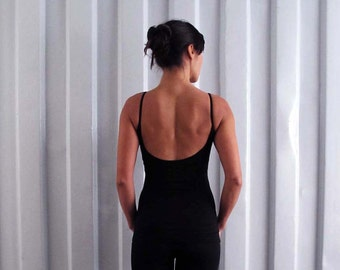 Low back tank - Singlet - Yoga top - yoga clothes - dance wear - athleisure. Black - Dark grey - Dusky rose - Burgundy. Size SM and ML