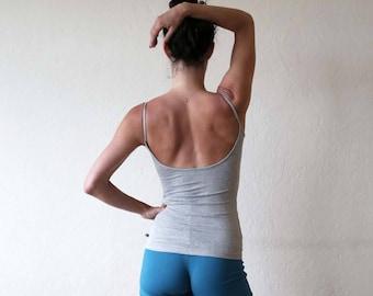 New color!! - Low back tank - Yoga top - yoga clothes - dance wear. Misty grey - Navy blue - Dark grey - Dusky rose - Black. Size SM and ML
