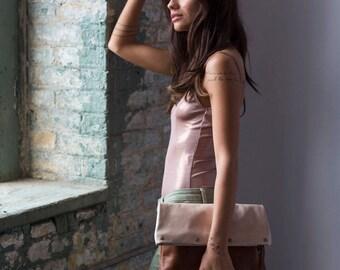 Leather Foldover Wristlet - Leather Wristlet - Leather Handbags - Leather Purse - Leather Bags  - Hobo Bags - Womens Purse -  Wristlet Purse