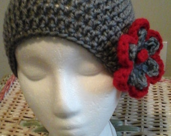 Crochet Cloche with Flower