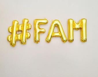 FAM Banner, #Fam, Family Photo Prop, Family Reunion Party Banner, Fam, Family Reunion, Family Photo Prop, Family Reunion Decoration, Family