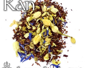 Ran Devotional Tea - loose leaf honeybush tea, floral spiced tea, ocean goddess, norse goddess, norse mythology, water magic, Viking deity