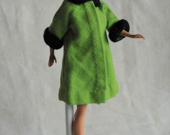 Barbie Vintage Fabulous Green Swing Coat and Hat with Shoes, 60s Clone Outfit