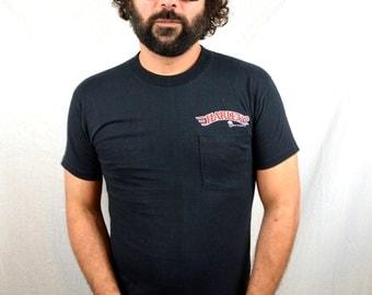 Vintage 1987 1980s Harley Davidson RARE Pocket Tee Shirt Tshirt