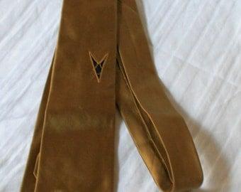 1960s Gino Paoli Italian silk necktie gold with black V shapes