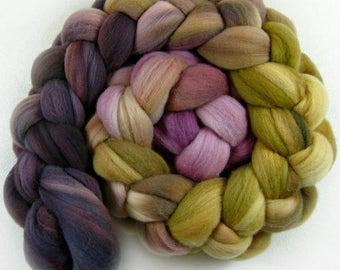 Orchid Honey merino wool top for spinning and felting (4.2 ounces)