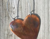 Heart, Love, Ornament, Folk Art, Decoration, Copper Sculpture, Hostess Gift, Gift for Her, Shabby Chic, Holiday, Rustic Decor, Friendship