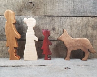 Little Red Riding Hood, Little Red Riding Hood Storytelling Set, Little Red Play Set, Wooden Little Red Riding Hood, Red Riding Hood Toys