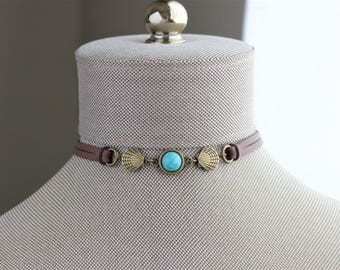 Turquoise Shell Choker and/or Bracelet