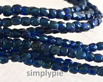 2mm Cobalt Blue Picasso Czech Beads Fire-Polished 50 TRUE 2mm Faceted Glass
