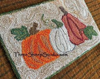 Punch Needle Pattern - Autumn's Prize - #PN507 - Needlepunch Embroidery