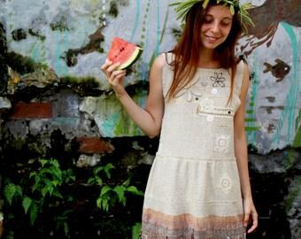 """Hand-woven dress """"Kiss of the summer"""""""