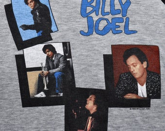 Vintage 80s 1983 BILLY JOEL An Innocent Man Rock Concert Tour T SHIRT Paper Thin