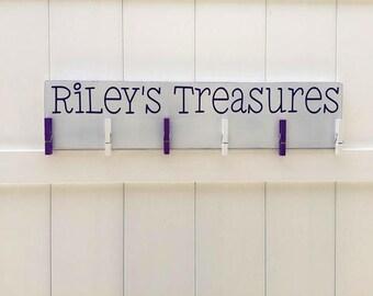 Child's Art Display // Art Work Display // Child Treasures // Kid Wall Art // Art Display // Personalized Kid Signs // Child Artwork Hanger