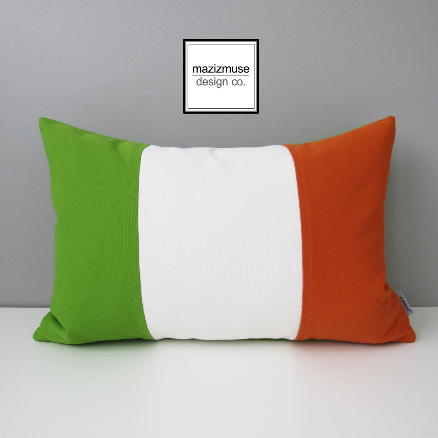 Irish Flag Pillow Cover Ireland St Patrick s Day Lime