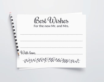 Wishes Wedding Guest Book Idea Cards Best For Mr