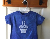 Second Birthday Shirt (3T), Boys Second Birthday Shirt, Girls Second Birthday Shirt, Blue Cupcake Birthday Shirt, Kids Cupcake Shirt