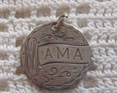 Vintage Love Token Coin Engraved Mama 1884 Seated Liberty Dime