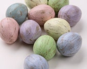 Easter Eggs, Pastel, Paper Mache Eggs, Multicolored, Distressed, Table Scatter, Easter Decoration, Centerpiece, Bowl Fillers, Spring Decor.