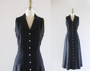 black linen market dress