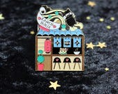 Ramen Ninja Shop for PinStreetPins - Kitty Cat Ramen Shack Collectible Soft Enamel with Epoxy Pin Enamel Pin