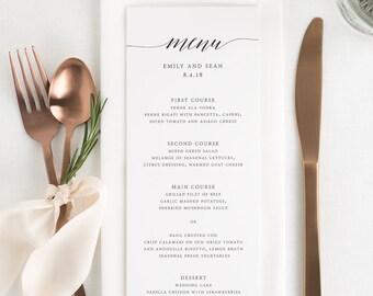 Delicate Romance Dinner Menus - Deposit