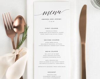 Daring Romance Dinner Menus - Deposit